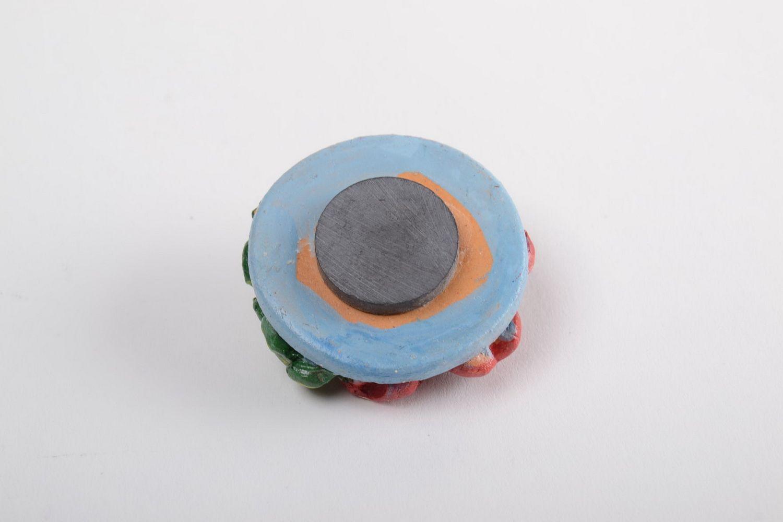 Ceramic fridge magnet cute souvenir made of clay stylish kitchen decor photo 4