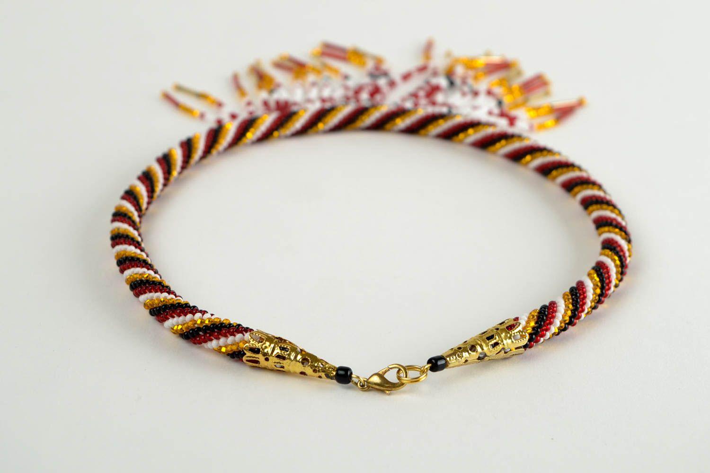 Rocailles Kette handmade Halskette Damen exklusiver Schmuck Damen Collier schön foto 5
