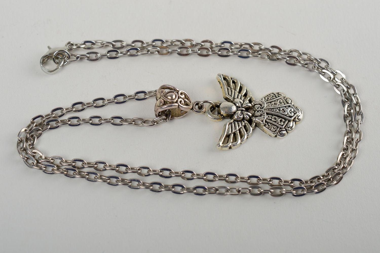 Кулон ручной работы модная бижутерия металлическая женская подвеска на цепочке фото 4