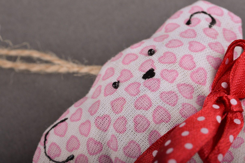 Handmade pink soft sachet pillow with herbs toy bear photo 3
