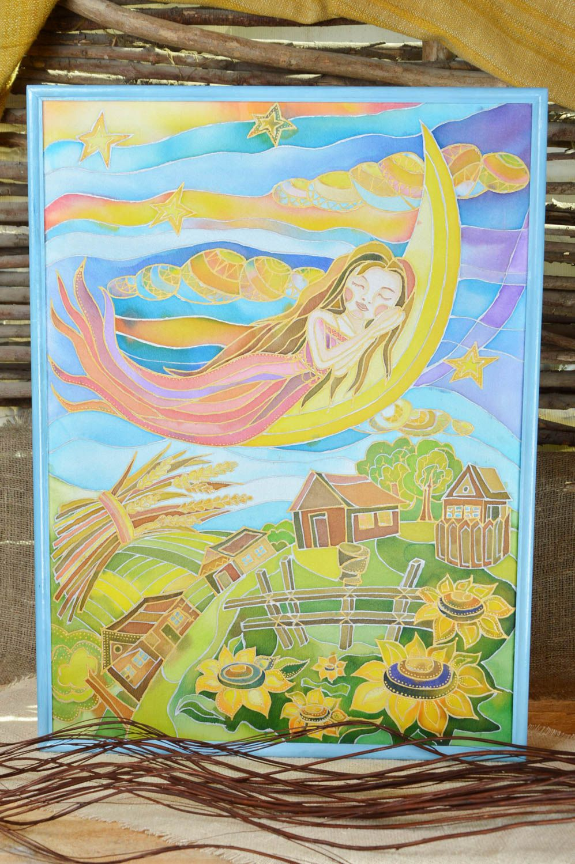 MADEHEART > Handmade fabric based wall painting cold batik ...