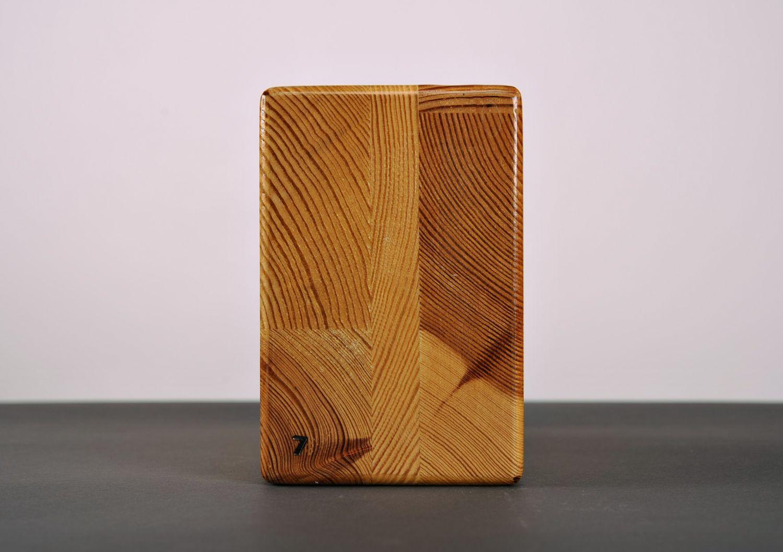 Wooden yoga block photo 4