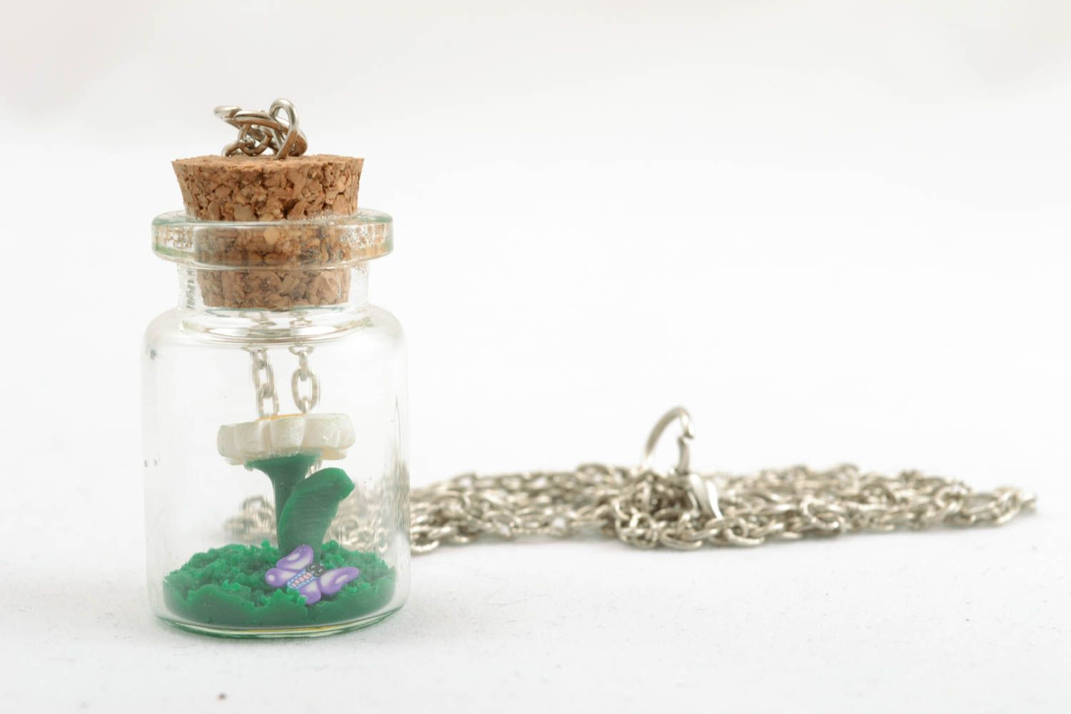 Pendant with a long chain photo 2