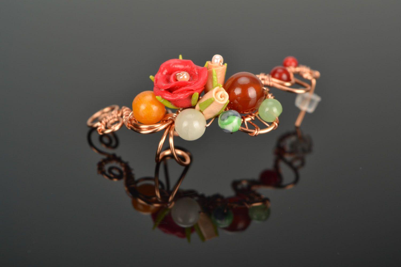 Wire wrap cuff earring photo 3