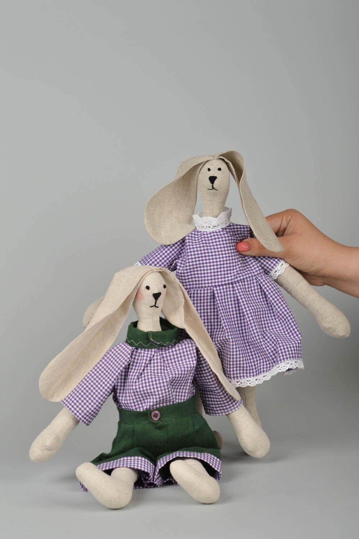 подарки мягкие игрушки ручной работы зайцы