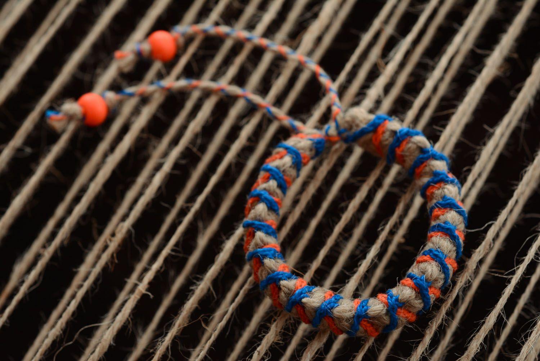 Плетеный браслет детский фото 3