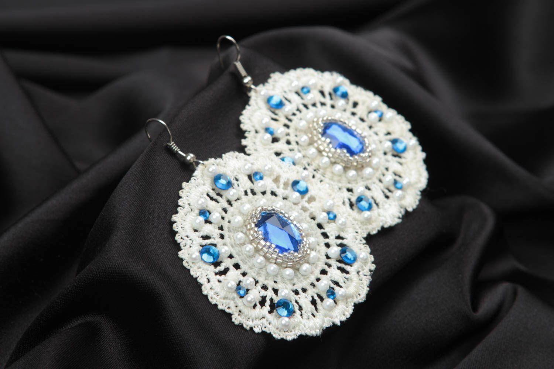 Серьги ручной работы серьги из бисера модные серьги дизайнерское украшение фото 1