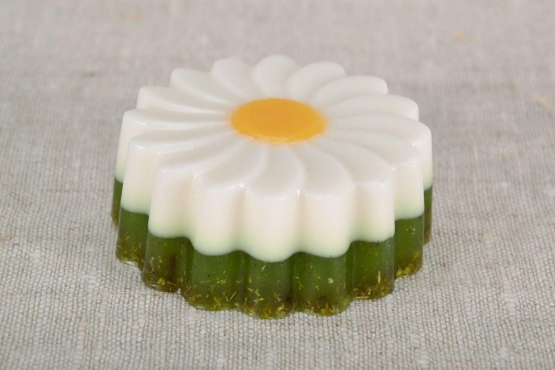 Soap with camomile tea photo 2