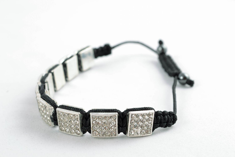 Designer bracelet with square beads photo 3