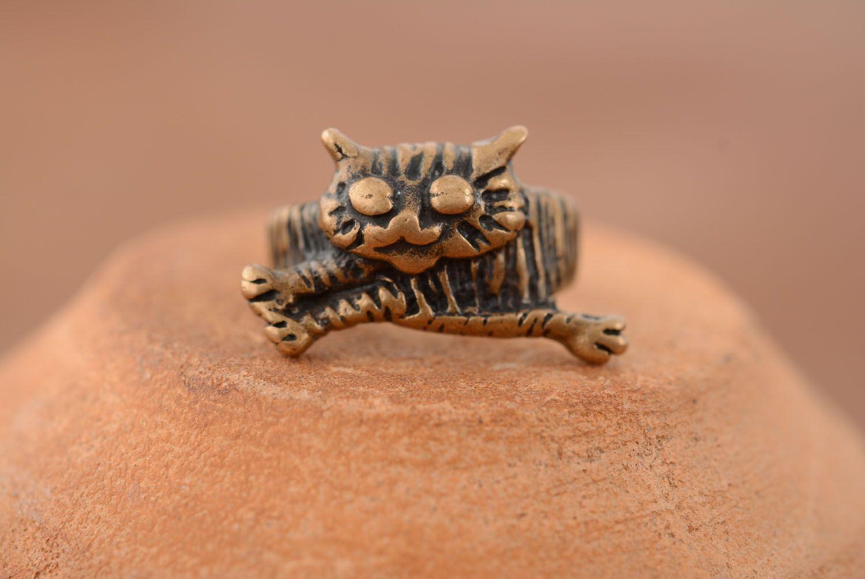 Bronze ring Cat photo 3