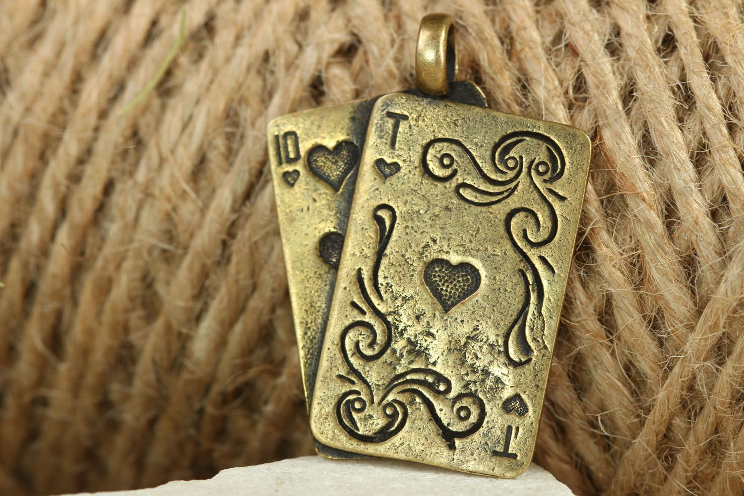 Bronze neck pendant Playing Cards photo 5