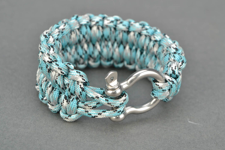 Blue woven bracelet photo 4
