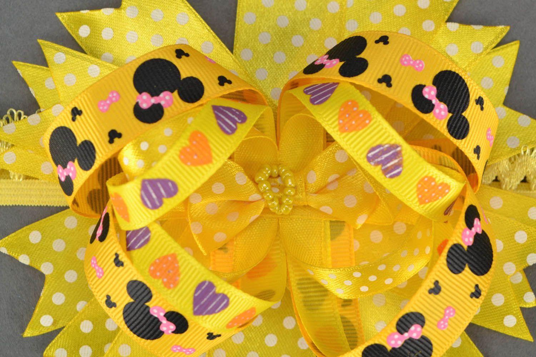 Homemade yellow headband photo 4