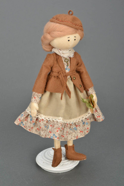 Handmade doll on stand photo 1