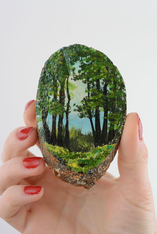 Fridge magnet with landscape photo 3