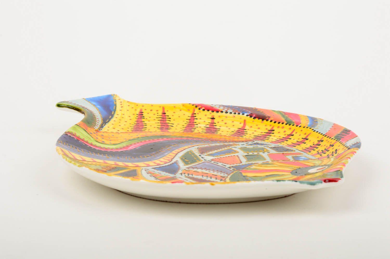 MADEHEART > Assiette verre fait main Vaisselle décorative Poisson ...