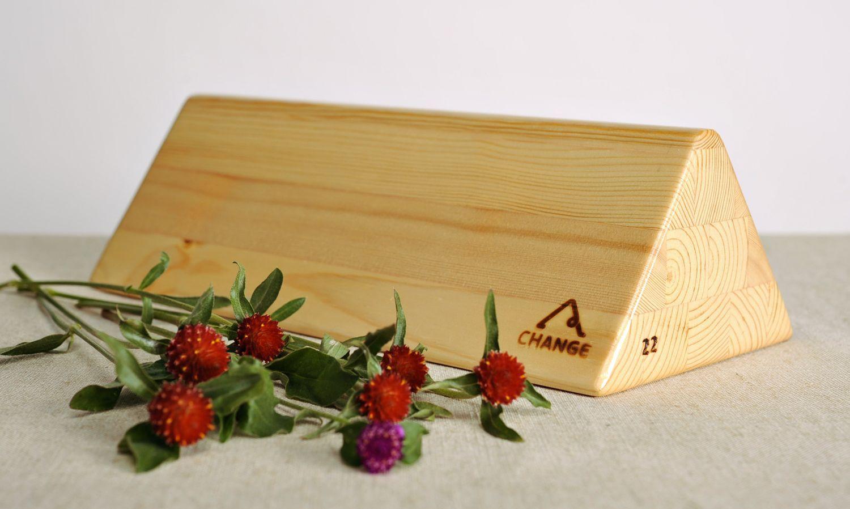 Triangular block for practicing yoga photo 1