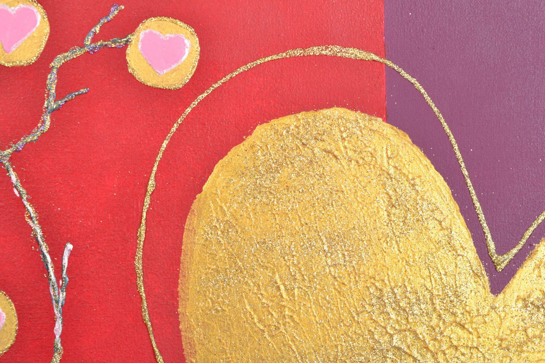 Handmade wall panel Two Hearts photo 3