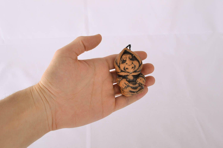 Handmade clay bell photo 4