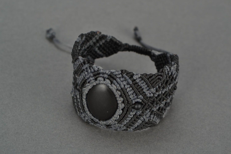 Woven bracelet with shungite photo 3
