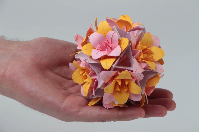 Madeheart Little Pink Interior Handmade Paper Wall Hanging Flower