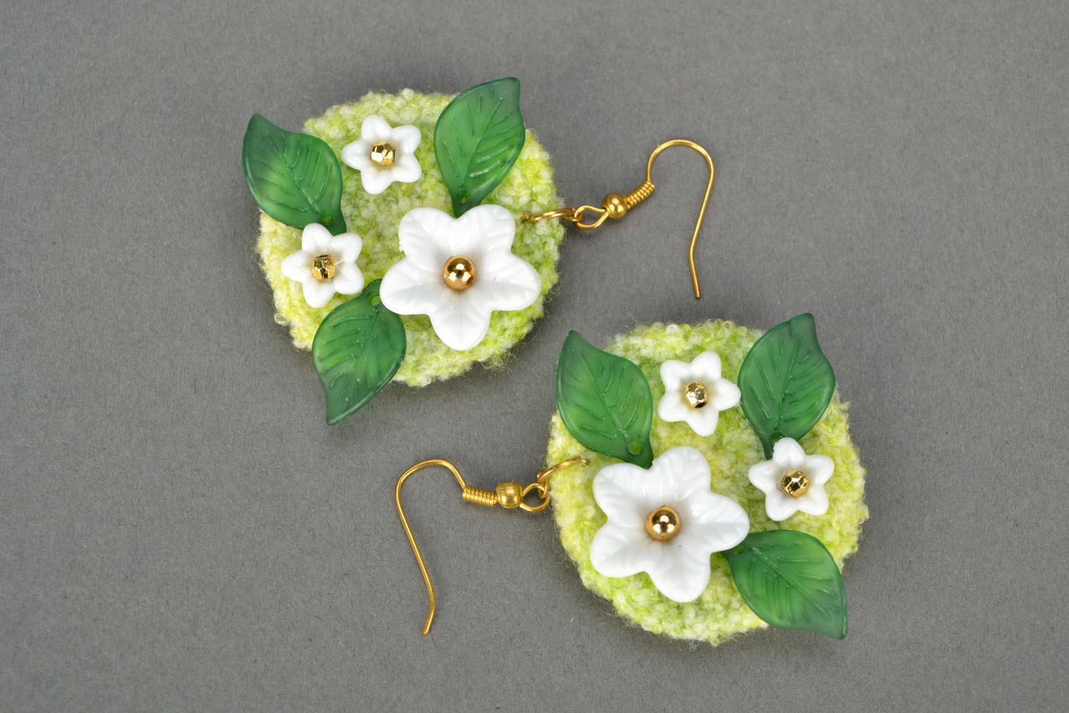 Crocheted earrings Spring photo 3