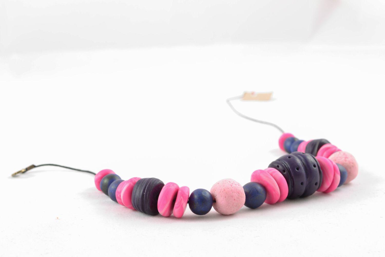 Bunte Halskette aus Polymerton foto 4