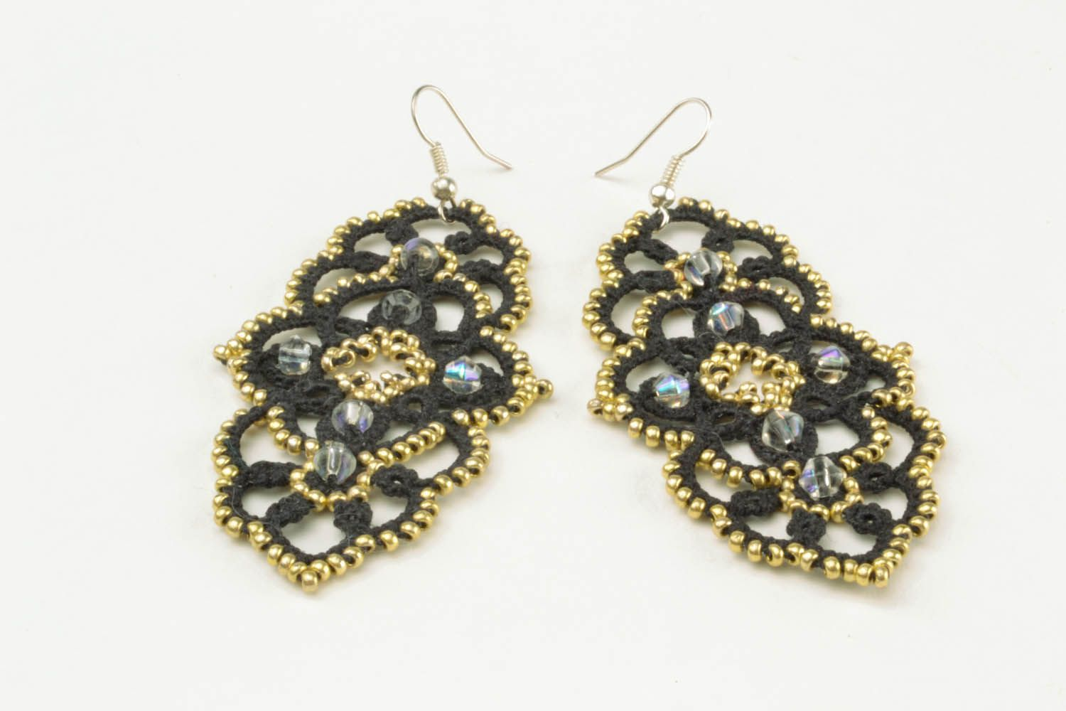 Lace dangle earrings photo 5