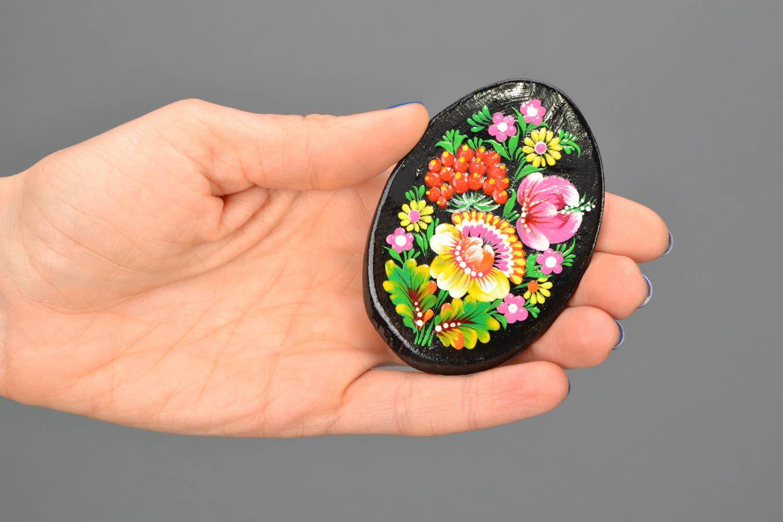 Fridge magnet with Petrikivka painting photo 2