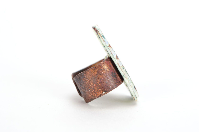 Медный перстень Цветок фото 4