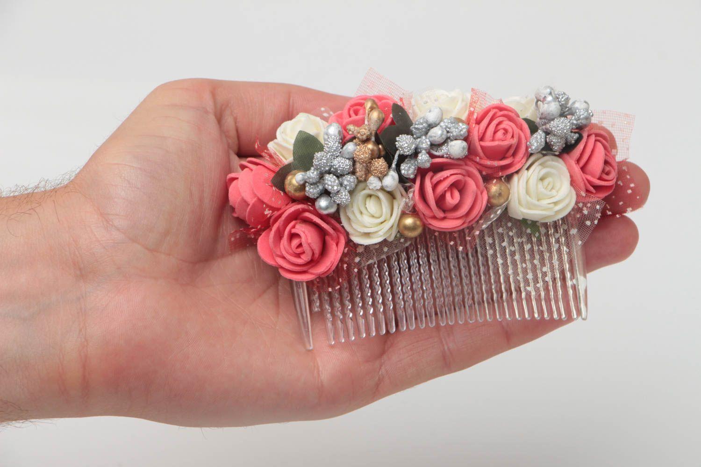 seleccione para mejor diseño elegante como escoger Peineta para el pelo con flores y bayas original artesanal para peinados  altos