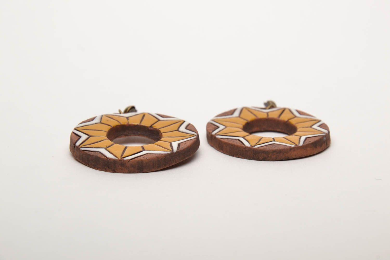 Серьги-кольца из глины фото 4