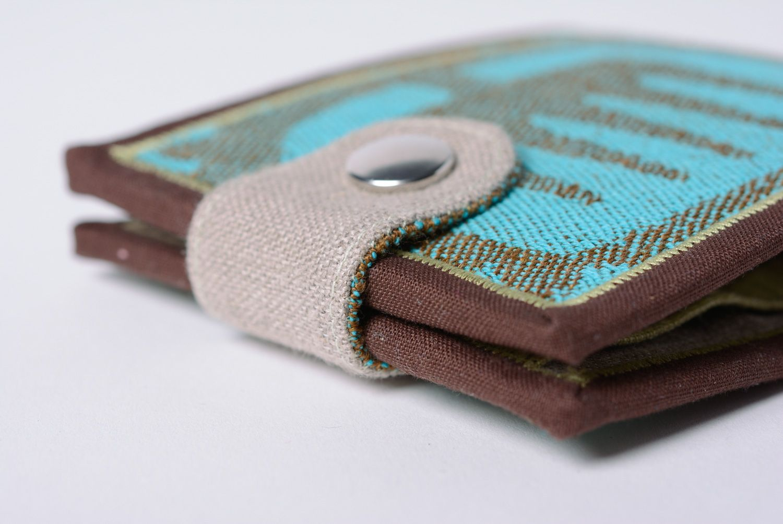 Handmade cotton and denim women's wallet photo 5