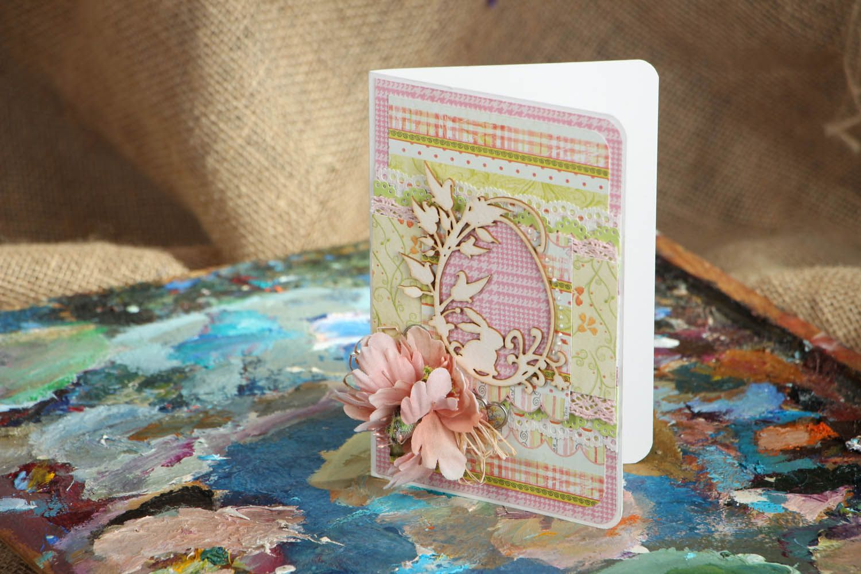Handmade Easter postcard photo 5