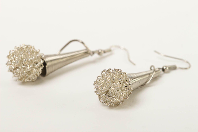Stylish handmade metal earrings metal jewelry designs fashion trends for girls photo 3