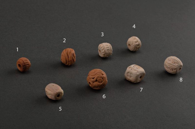 Clay beads photo 3