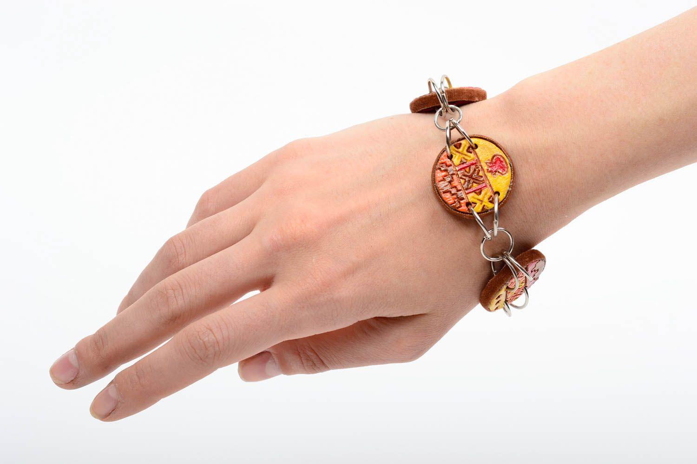 clay bracelets Beautiful handmade ceramic bracelet wrist bracelet design cool jewelry - MADEheart.com