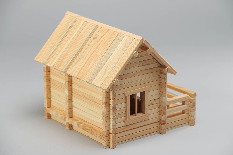 Madeheart jeu de construction en bois fait main maison 208 pi ces pratique et original for Construction bois 93
