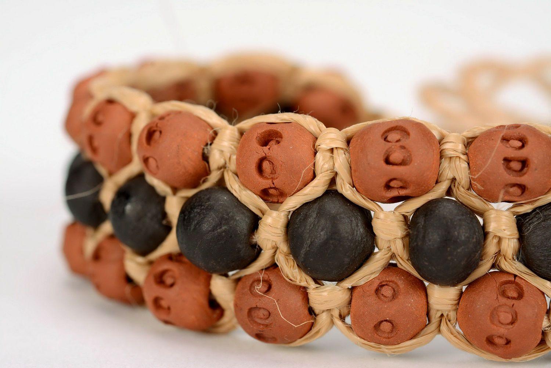 браслеты из глины Глиняный браслет ручной работы наручный - MADEheart.com