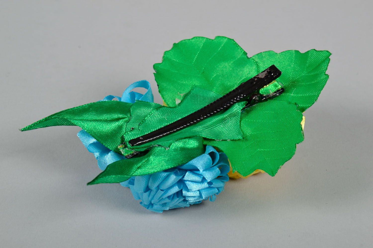 Large hair clip with flowers photo 4