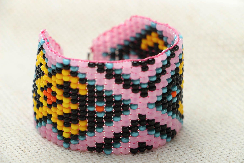 Wide beaded bracelet photo 1