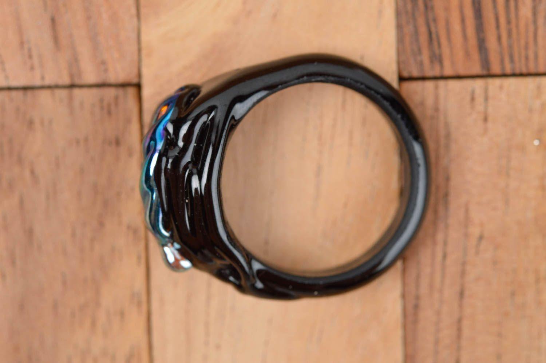 Designer jewelry handmade glass seal ring fashion rings fashion accessories photo 3