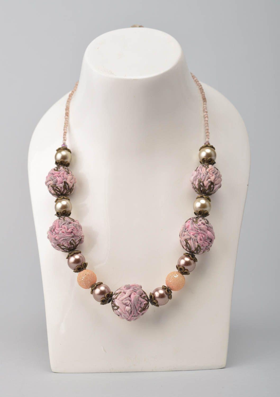 joyería de Tela Collar de cuentas grandes hecho a mano bisutería de moda accesorio para mujer