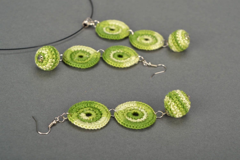 Set of crochet jewelry photo 5