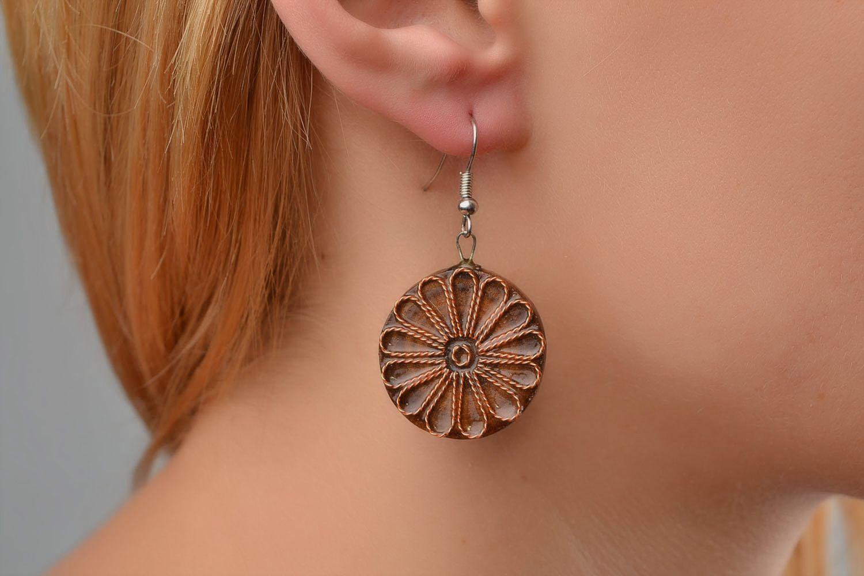MADEHEART > Beautiful homemade wooden earrings designer acessories ...
