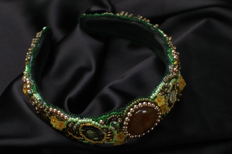 Headband with Czech beads photo 2