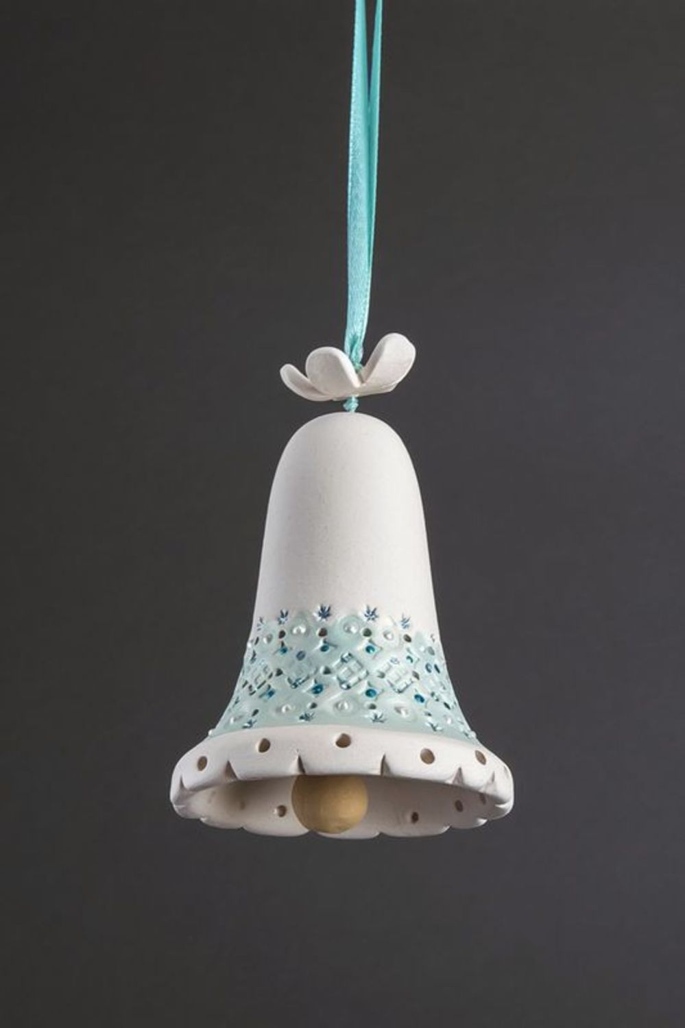 Colourful ceramic bell photo 1