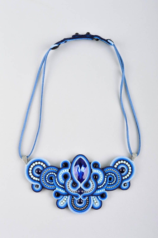 technique combinée Collier soutache Bijou fait main design Accessoire femme broderie originale - MADEheart.com