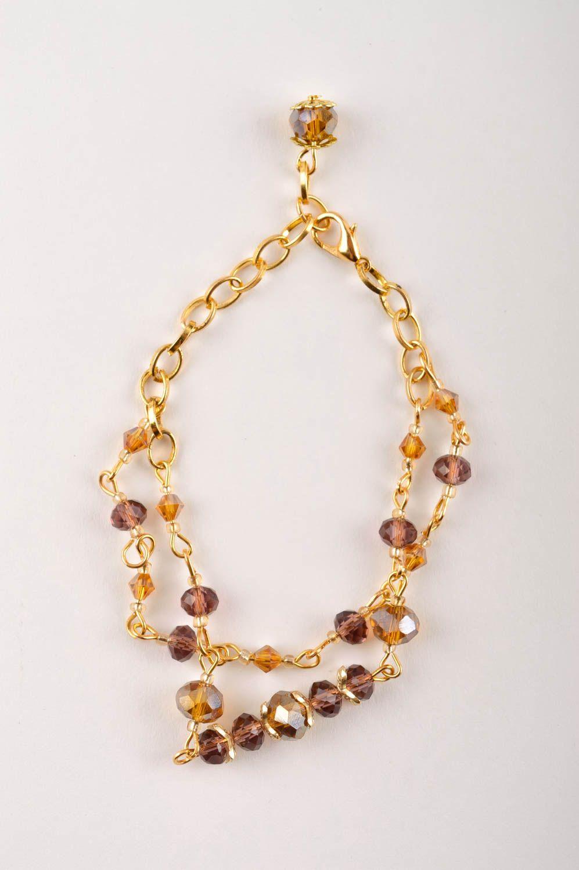 Handmade Schmuck Set Collier Halskette Damen Armband  mit Kristallen modisch foto 4