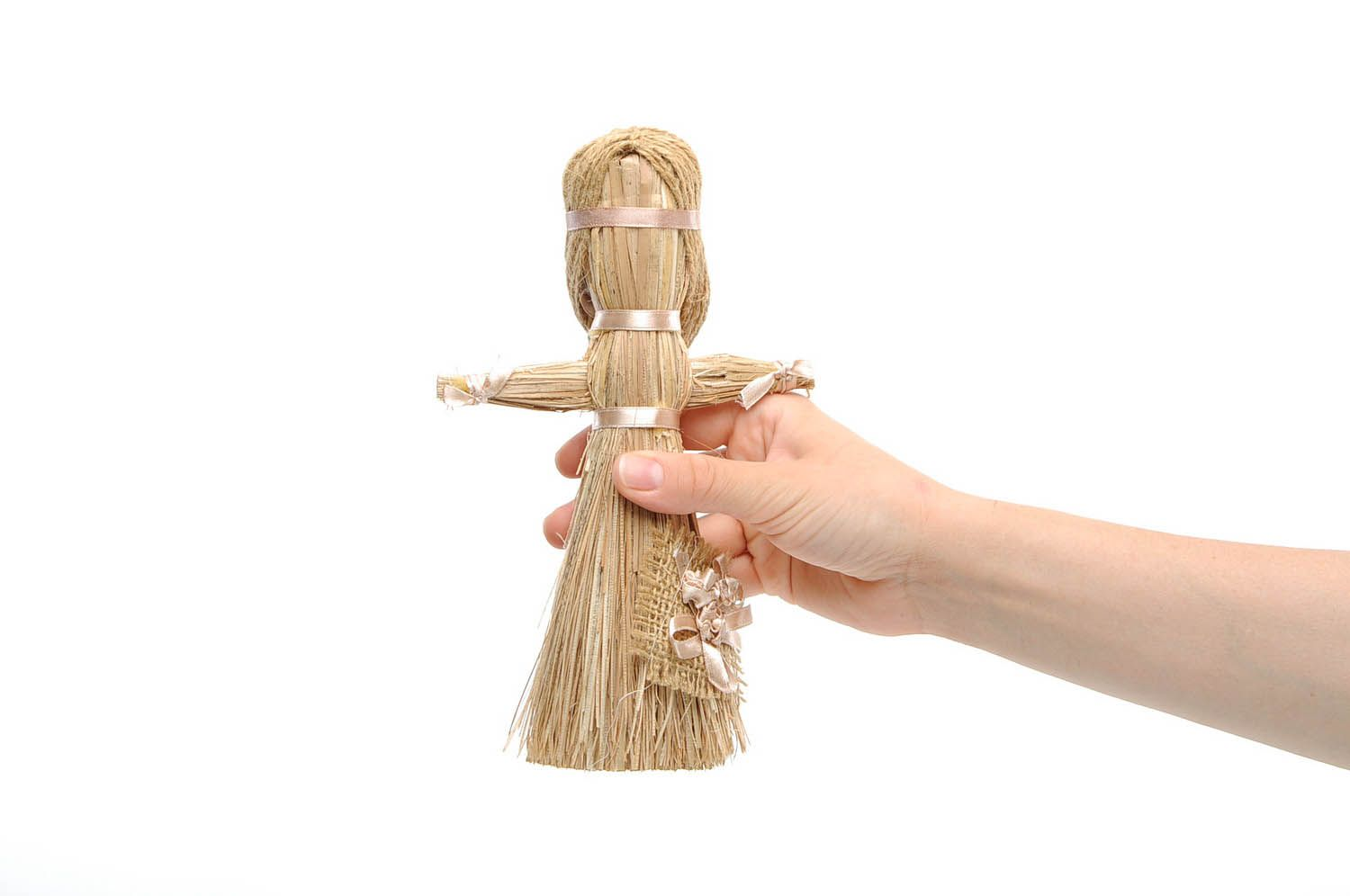 Amulet doll made of cattail photo 2